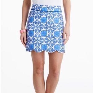VINEYARD VINES Shell Tile Print Skirt sz 0